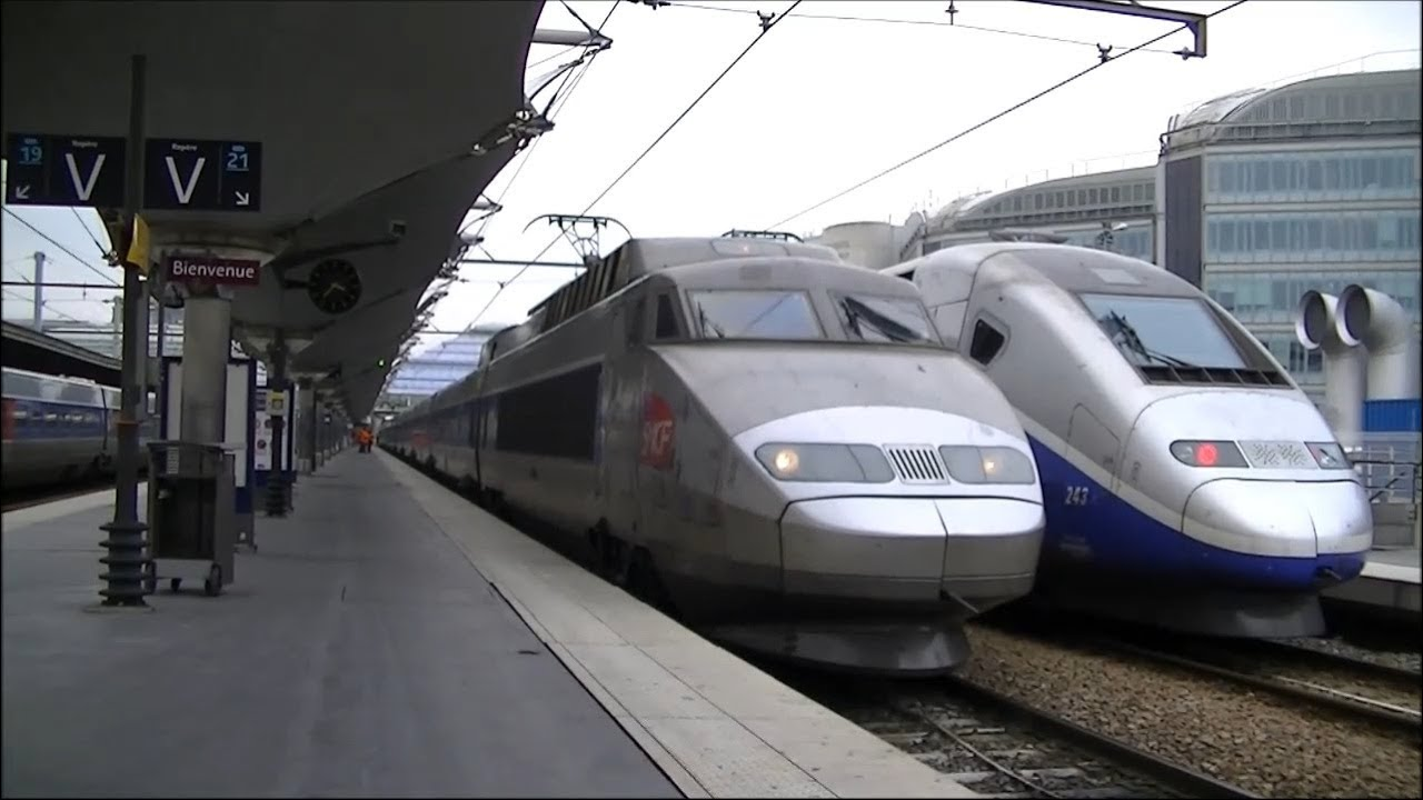 sncf tgv hogesnelheidstrein 100 te paris gare de lyon youtube. Black Bedroom Furniture Sets. Home Design Ideas