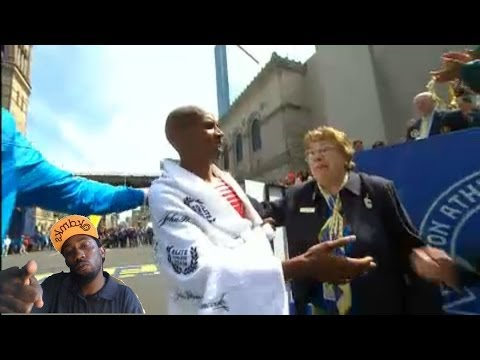 Meb Keflezighi wins boston marathon 2014 !! first american since 1983 USa !!! Reaction