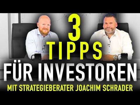 3 Tipps für Investoren (mit Strategieberater Joachim Schrader) I Jens Rabe