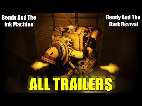 "Bendy and the Ink Machine ALL TRAILERS -  BATIM EVOLUTION 2017-2019 ""NEW BENDY GAME"""