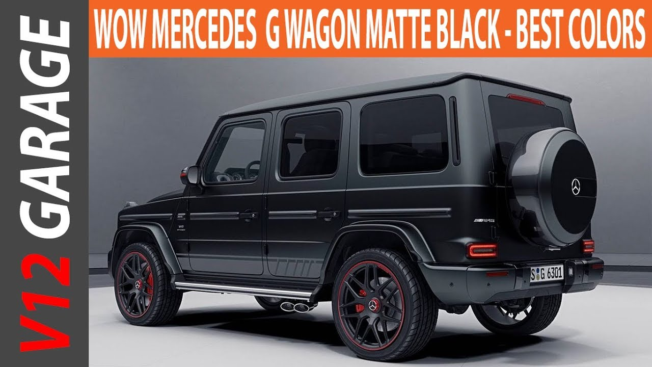 Look This Mercedes Benz Matte Black G Wagon Best Er Colors