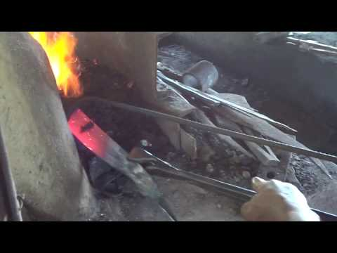 Tempering Bolo - Nick's Blacksmith Shop ( Tabango, Leyte)