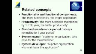 Productivity of Software Maintenance