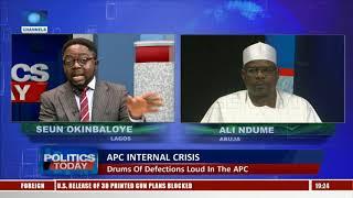 2019: Saraki Cannot Do Irreparable Damage To Chances Of APC, Buhari-- Ndume |Politics Today|