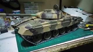 Давно Хен Т-90 перший тест, віддачі і вежі - масштаб 1/16