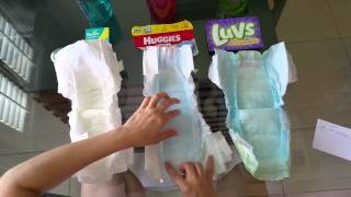 Pampers Swaddlers vs Huggies Snug and Dry vs Luvs