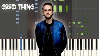 Zedd - Good Thing (with Kehlani): Synthesia Piano Tutorial
