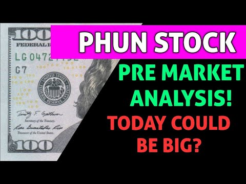 Download PHUN STOCK PRE MARKET ANALYSIS! - WILL WE SEE AN UPTREND TODAY OR WILL THE SELL OFF CONTINUE?