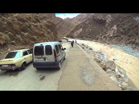 Todra Gorge flood waters now lower