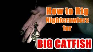 How to Rig Nightcrawlers for BIG Catfish - Flathead & Channel