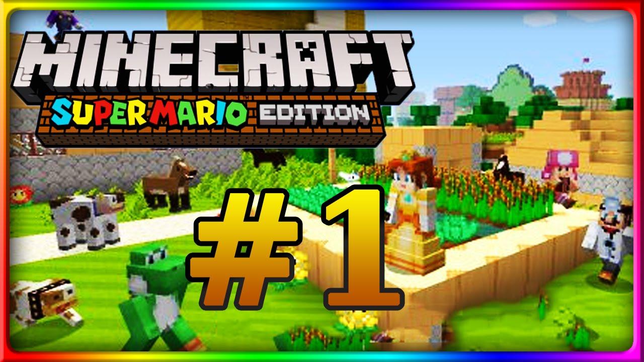 Lets Show MINECRAFT WII U EDITION Mario Mashup Pack MarioWelt - Minecraft mario spiele