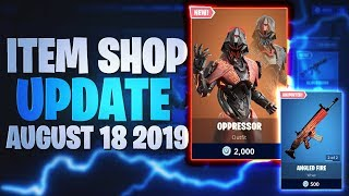 Fortnite Item Shop Today *NEW* OPPRESSOR SKIN [18.08.2019 - 18th August 2019] Fortnite Battle Royale