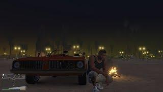 Подцепил ШЛЮХУ. Секс на берегу и ночь под звездами.  GTA 5