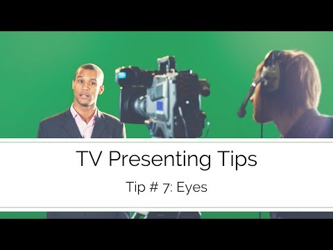 On-Screen Presenting Techniques-Eye line