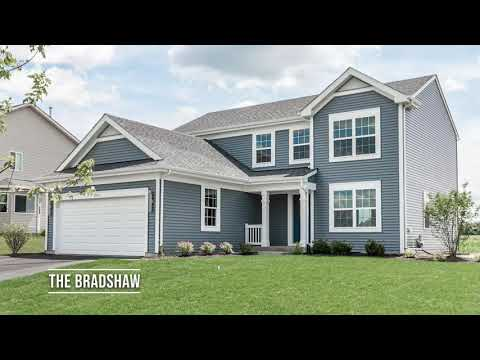 The Bradshaw Two-story Plan at Huntington Ridge Estates in Harvard IL | KLM Builders