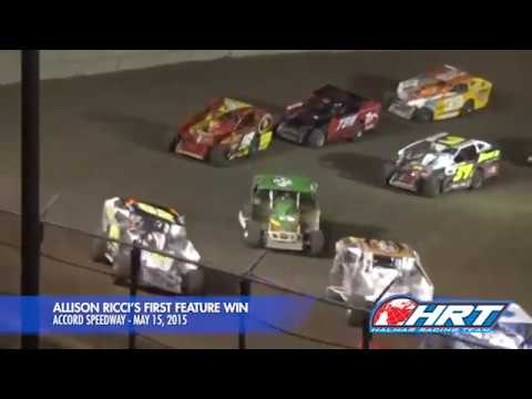 Allison Ricci's First Feature Win - Accord Speedway - May 15, 2015