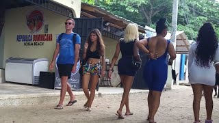 WATCH (HOW MANY BEAUTIFUL GIRLS WALKING ON THE BEACH IN THE WEEKEND/PUERTO PLATA DOMINICAN REPUBLIC.