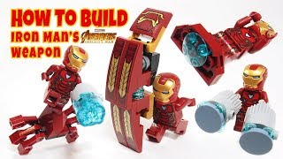 How to Build Lego Iron Man Weapons from Avengers Infinity War (Iron Man Big Shield)