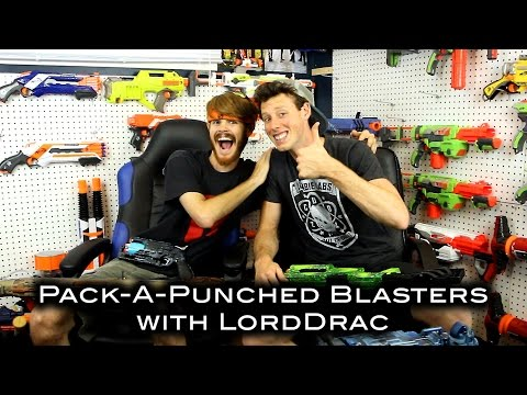 PACK-A-PUNCHED GUNS / BLASTERS FOR NERF ZOMBIES (feat. LordDraconical)