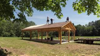 Time lapse: North Stonington wood pavilion raised in five hours