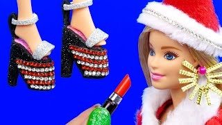 13 DIY BARBIE HACKS ~ Miniature Earrings, Hand Bags, Lipstick, Shoes, Mirror AND Many MORE!