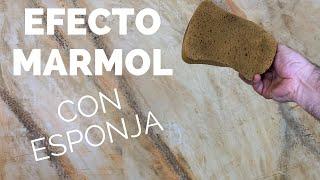 Como hacer IMITACIÓN mármol en paredes