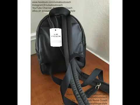 79e024c40e16 ... czech coach mini charlie signature backpack bag f58315 1eb9f fa97f