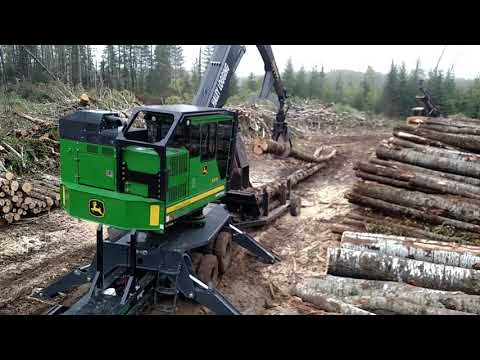 Logging Larsen's property.  From stump to truck.