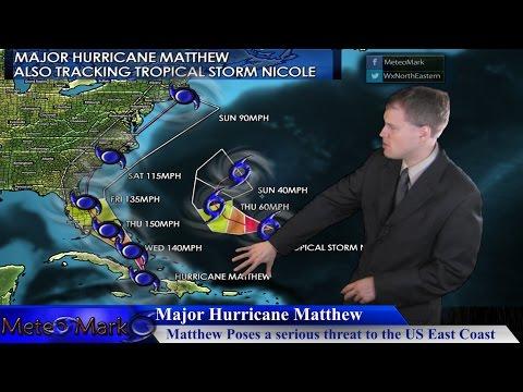Major Hurricane Matthew & Tropical Storm Nicole : Oct 4, 2016