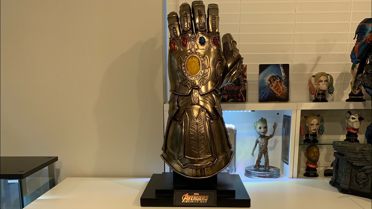 Hot Toys Guanto Thanos Replica 1//4 Avengers Infinity War Collezione