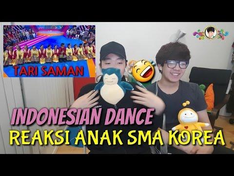 Reaksi Orang Korea Menonton Tari Indonesia // TARI SAMAN