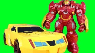 Transformers Super Bumblebee Battles Mars Robot Created By Imaginext Ninjas With Hulkbuster