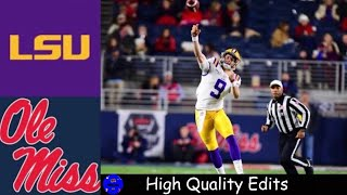 #1 LSU vs Ole Miss Highlights | NCAAF Week 12 | College Football Highlights