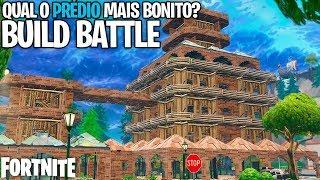 NOVO MODO, BUILD BATTLE NO FORTNITE! QUEM CONSTRÓI O PRÉDIO MAIS BONITO?! PARQUINHO!