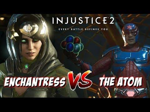 ENCHANTRESS VS ATOM | Injustice 2 Online Long Set