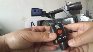 Zoom remote controller dedicated for various Canon, Panasonic and Sony Camcorders.