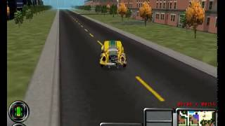 Streets of SimCity (1997) - First driving and shooting in open world 3d city
