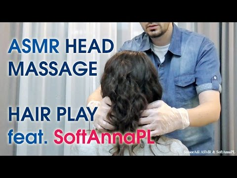 Taking Care of SoftAnna. Vibrating Head Massage & Hair Play (Pure Binaural ASMR)