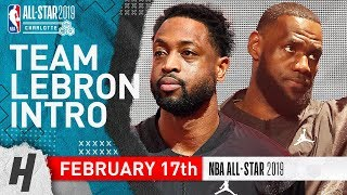 Team LeBron Players Introdขctions - February 17, 2019 NBA All-Star Game