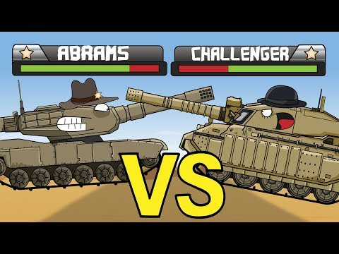 """""""Tank Duel   Abrams VS Challenger"""" Cartoons about tanks"""