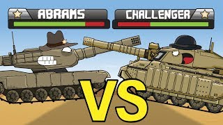 """Tank Duel   Abrams VS Challenger"" Cartoons about tanks"