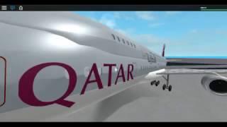 Qatar Airways A380 FAIL ll ROBLOX
