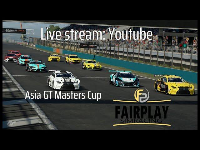 Live PS4-uitzending van FP Sim Racing  GTSport Asia Cup Race 6 Pro/Am