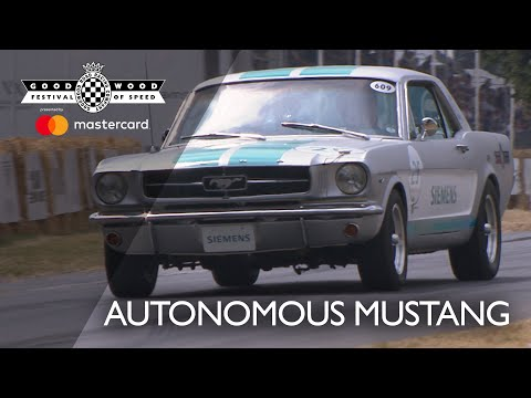 Mustang the first autonomous classic car to conquer Goodwood hill