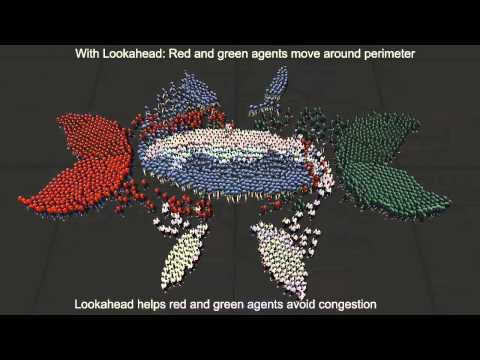 Hybrid Long-Range Collision Avoidance for Crowd Simulation