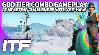 Completing Week 5 Challenges with Yee-Haw Skin! (Fortnite Battle Royale)