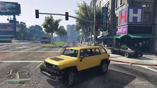 Grand Theft Auto V driving in to my boss shop
