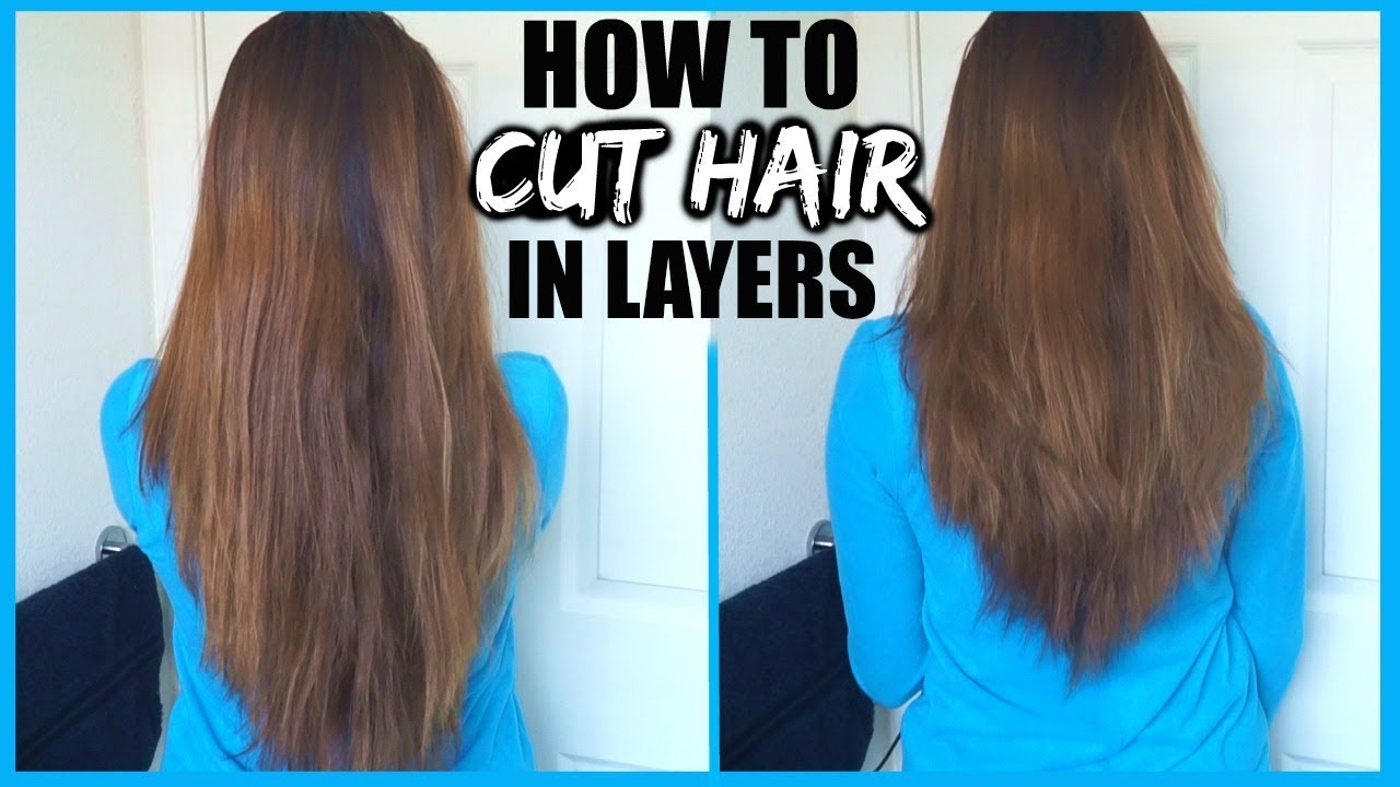 HOW TO CUT YOUR HAIR IN LAYERS AT HOME!│DIY LAYERS IN LONG HAIR│EASY LAYERS  HAIR CUTTING TUTORIAL