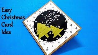 Easy Christmas Card Idea   DIY Christmas card tutorial