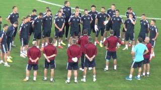 Тренировка сборной России перед матчем с Южной Кореей